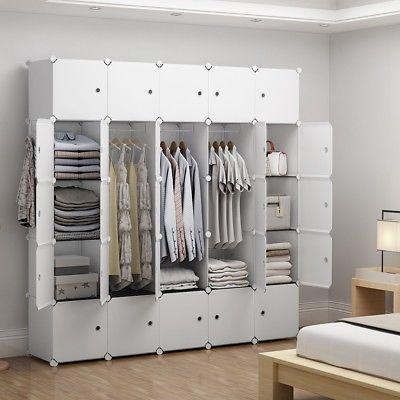 New Closet Wardrobe Space Saving Portable Clothes Storage