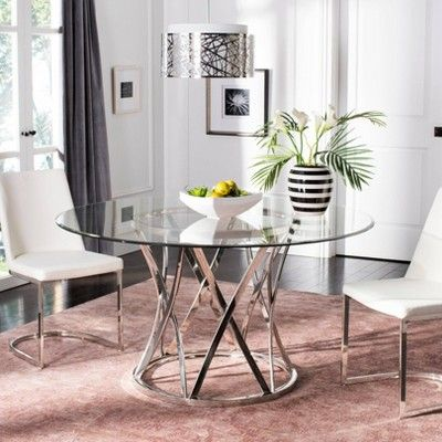 Dining Table Silver Clear Safavieh Dining Table Table Pretty