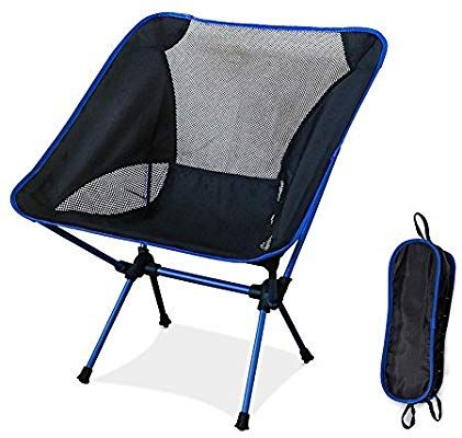 Diswoe Camping Chair Lightweight Folding Chair With Carry Bag For Hiking Fishing Beach Heavy Duty 240 Lb Capacity Amazon Co Uk Sports Outd Kamperen