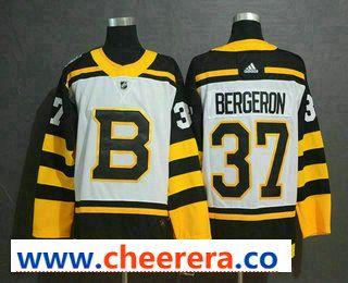 quality design 92aa5 7e037 Men's Boston Bruins #37 Patrice Bergeron White 2019 Winter ...