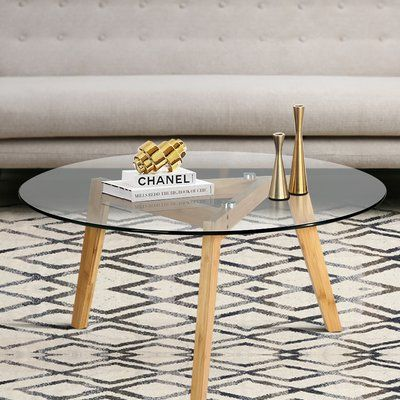 Zipcode Design Hosteen Coffee Table Wayfair In 2020 Round Coffee Table Modern Round Mid Century Coffee Table Coffee Table