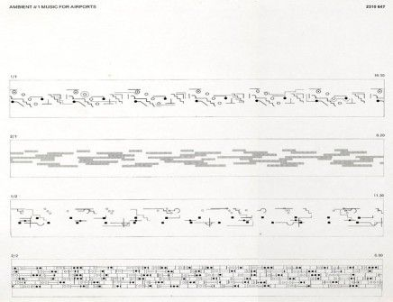 Score For Ambient  Music For Airports  Brian Eno  Art