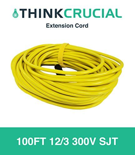 100ft Extension Cord 12 3 300v Sjt Heavy Duty Durable And Flexible For Indoor Outdoor Use 100 Foot Power Cord Designed Engineered By Think Crucial Extension Cord Power Cord Cord