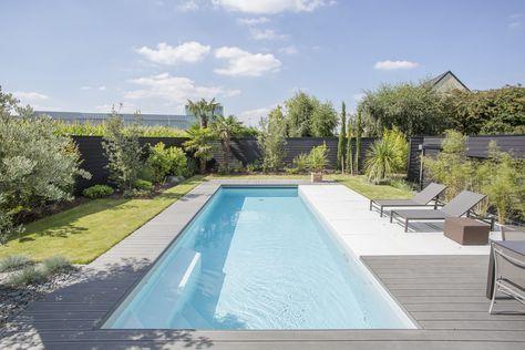 Avant-après  installation du0027une piscine dans un jardin design