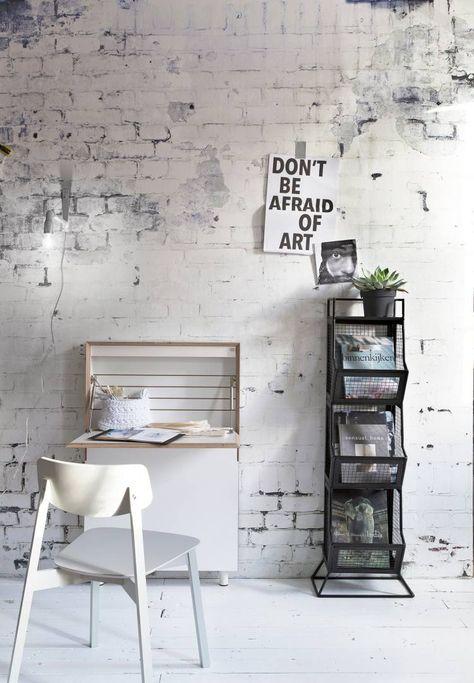 modern und minimalistisch mit der richtigen Backstein Tapete