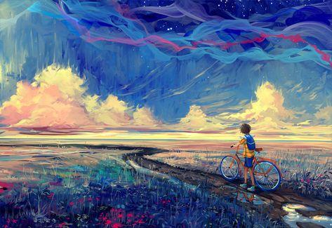 bicycle, Artwork, Fantasy Art Wallpapers HD / Desktop and