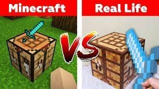Minecraft Crafting Table In Real Life Minecraft Vs Real Life Animation Craft Table Minecraft Minecraft Crafts