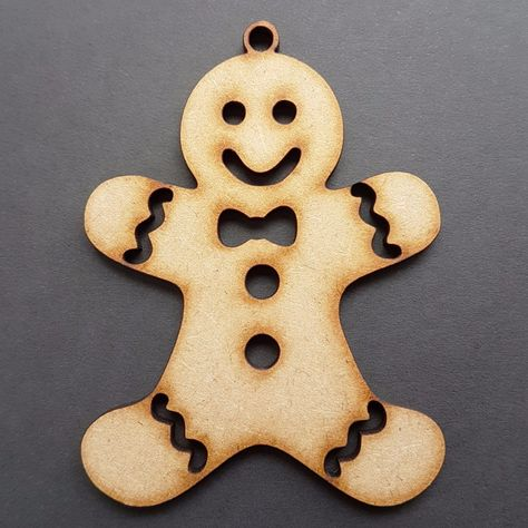 25x MDF Lasercut Christmas Gingerbread man shape blanks Crafts  Embellishment