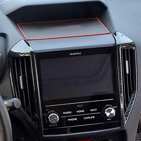 Amazon Com Kadore Black Abs Carbon Fiber Color Car Center Air Condition Outlet Vent Trim Cover For Subaru Crosstrek X In 2020 With Images Subaru Crosstrek Carbon Fiber Car Center