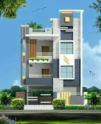 Gallery Design For House Of Third Floor 25 50 Google Search Small House Front Design House Front Design Duplex House Design