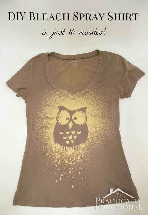 This tutorial shows you step by step how to make your own bleach spray shirt in just 10 minutes!