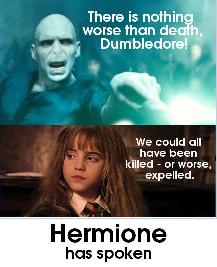 Hermione, Proving others wrong since... forever!