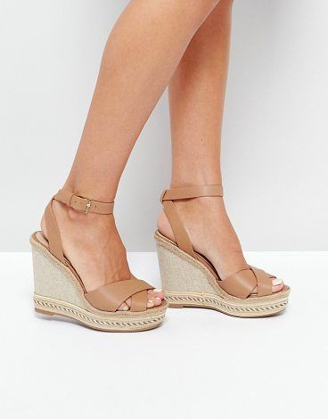 8bd687dba4a Clodia Tan Espadrille Wedge Sandals by ALDO.