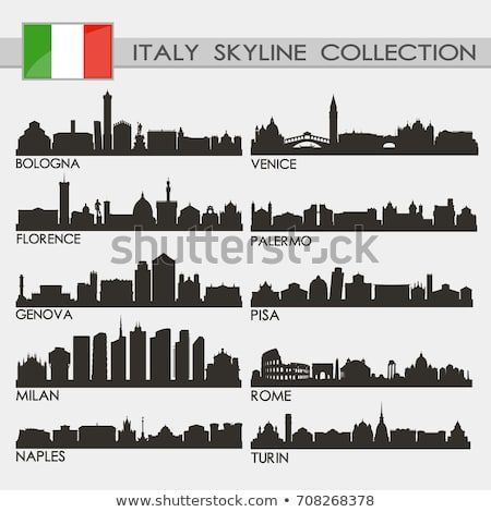 Most Famous Republic Of Italy Cities Skyline City Silhouette Design Collection Italy Tattoo City Skyline City Silhouette