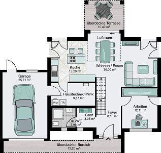 Einfamilienhaus grundriss mit doppelgarage  Die besten 25+ Garagenwohnungspläne Ideen auf Pinterest ...
