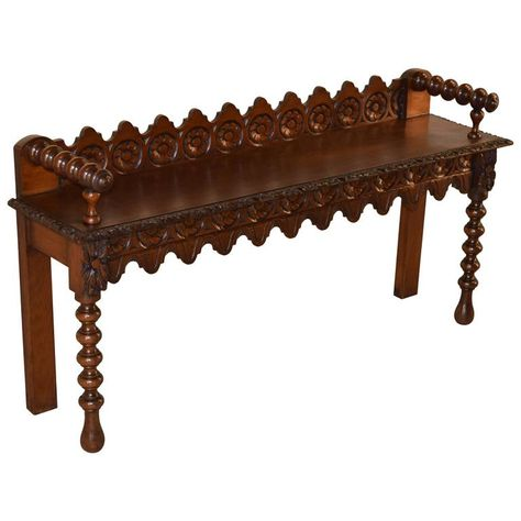 19th Century English Carved Window Bench Outdoor Dining Chair Cushions Restoration Hardware Chair Floor Protectors For Chairs