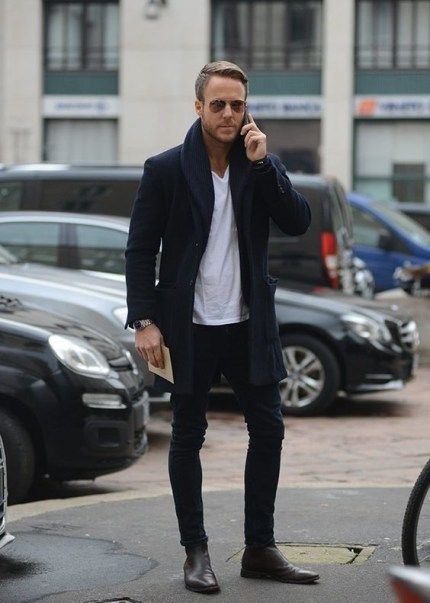 mens black boots outfit