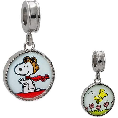179eeffa5 Connections from Hallmark - Connections from Hallmark Peanuts Stainless  Steel Snoopy Charm - Walmart.com