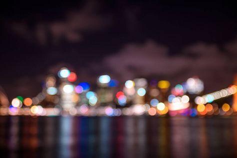 bokeh The city lights... A little...