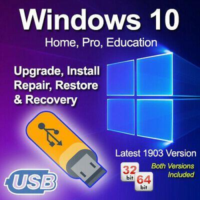 Ebay Link Ad Windows 10 Usb All Versions 32 64bit Restore Repair Install Upgrade W Hdd Windows 10 Installation Usb