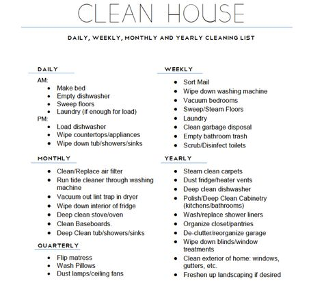 house cleaning checklist daily weekly monthly office cleaning checklist daily weekly