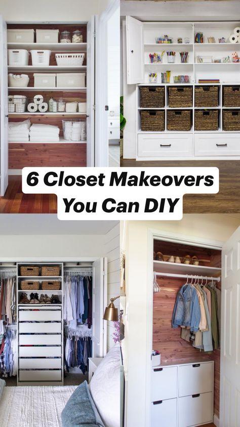 6 Closet Makeovers You Can DIY