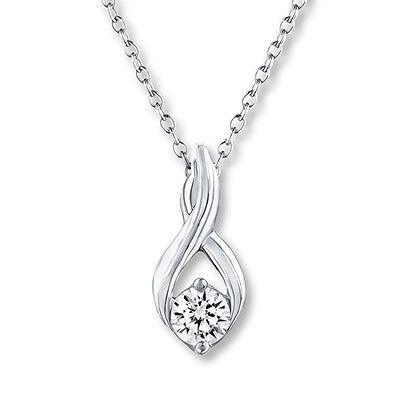 Leo Diamond Necklace 1 3 Carat Diamond 14k White Gold Kay Jewelers Necklaces 3 Carat Diamond Beautiful Jewelry