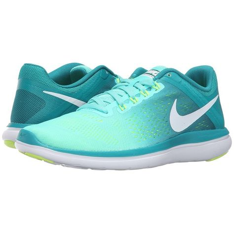 d9318994ab9e Nike Flex 2016 RN (Hyper Turquoise White Rio Teal Volt) Women s... ( 80) ❤  liked on Polyvore featuring shoes