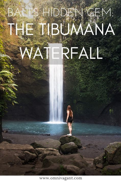 bali's hidden gem tibumana waterfall in ubud bali at sunrise
