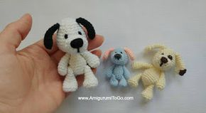 Miniature Puppy Amigurumi To Go Crochet Free Pattern Stuffed
