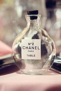 Chanel Inspired Table Numbers...not my wedding but super cute idea
