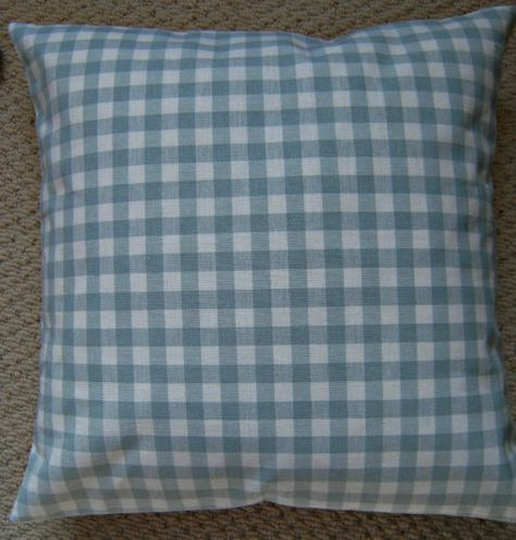 A 16 Inch cushion cover in Laura Ashley Mitford duck egg fabric