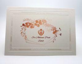 Panache 823 Floral Akhand Path Invitation Floral Prints Floral Invitations
