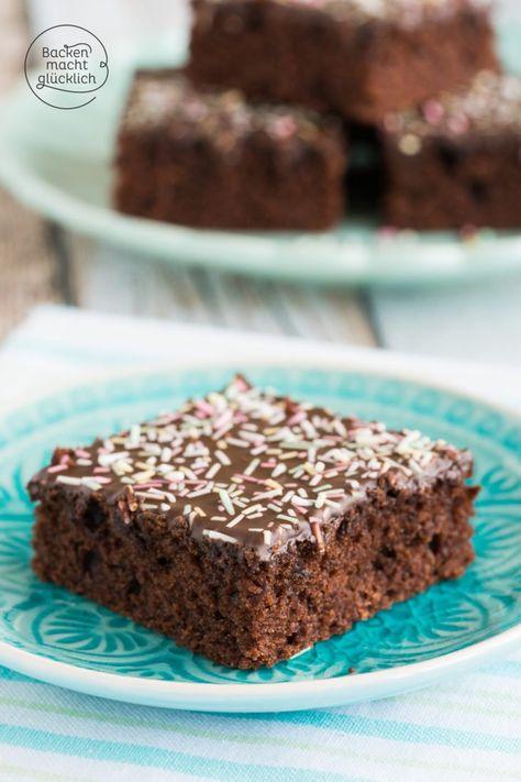 Saftiger Schoko Blechkuchen Rezept Backen Kuchen Schokoladen