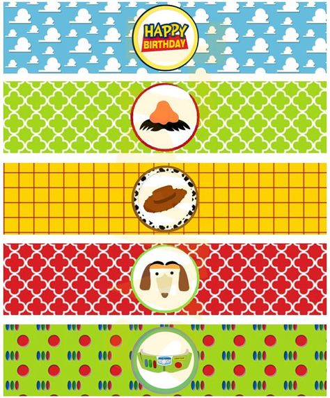 Toy Story Inspired Water Bottle Labels by EveRyThiNgBDay on Etsy, $4.00