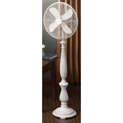 Deco Breeze Providence Oscillating 16 Standing Fan Antique White Floor Standing Fan Standing Fans Floor Fans