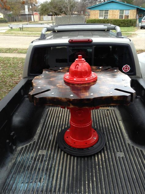 Turning A Fire Hydrant Into A Table pics) Firefighter Room, Firefighter Crafts, Volunteer Firefighter, Firefighter Paramedic, Female Firefighter, Fire Dept, Fire Department, Fire Hose, Fire Trucks