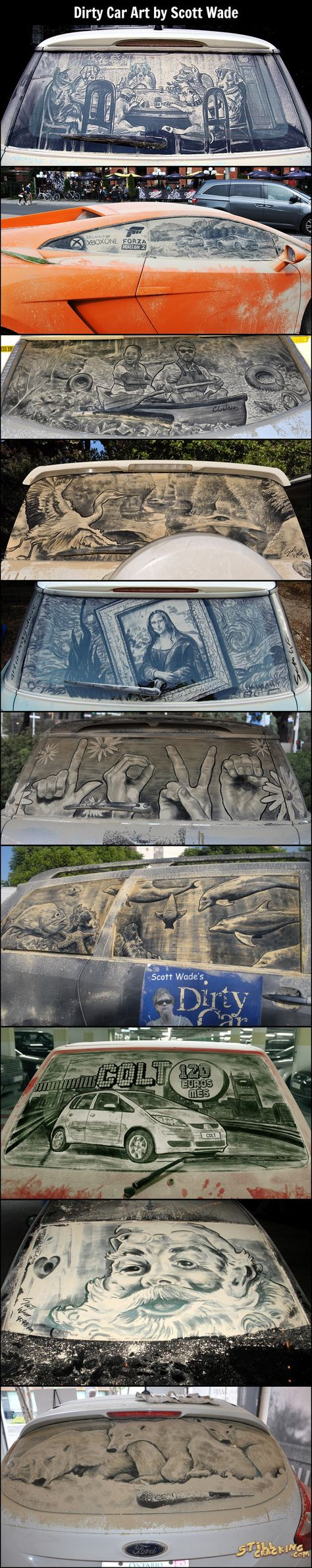 Dirty Car Art Scott Wade Httpwwwallstarautomotivecom - Scott wade makes wonderful art dusty car windows