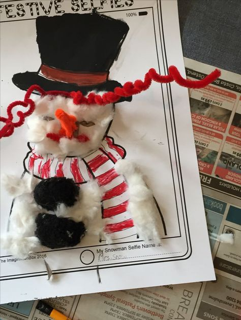 3e39a0fedf1 Make a snowman! Have fun celebrating Christmas and the holidays creatively  with this modern