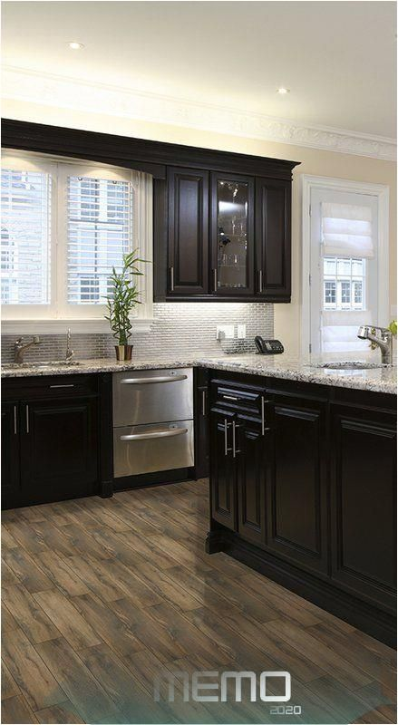 Jun 8 2020 This Pin Was Discovered By Tori Pitre Discover And Save Your Own Kitchen Cabinets And Flooring Brown Kitchen Cabinets Black Kitchen Cabinets