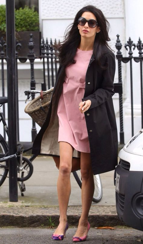 George Clooney's Pal Matt Damon is Thrilled He Met Amal Alamuddin!: Photo Amal Alamuddin is pretty in pink while hanging out with friends on Tuesday (May in London, England.