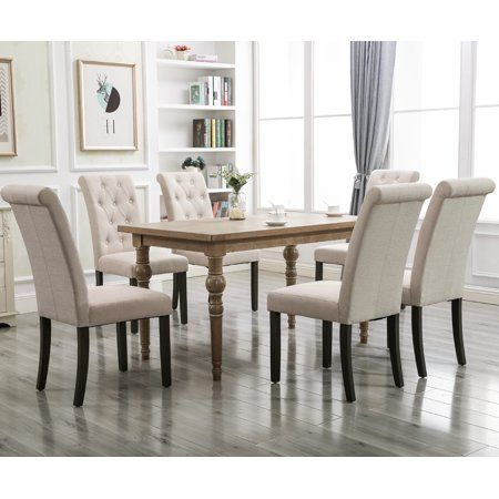Tufted Fabric Parsons Dining Chairs Set Of 2 39 8 X22 4 X17 5 Upholstered High Back Padded Dining Chairs W Solid Wood Legs Classic Linen Parsons Chair For Ho Linen Dining Chairs Dining Chairs Tufted Dining Parsons chairs set of 2