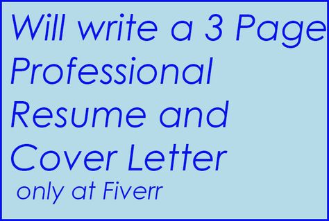 susycw write professional Resume and cover letter for $5, on - fiverr resume