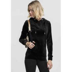 Urban Classics Damen Kapuzenpullover Hoodie Sweatshirt Ladies Velvet Hoodytb1752 sand Long Teddy Xl