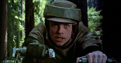 Luke Skywalker on a Speeder Bike! #starwars