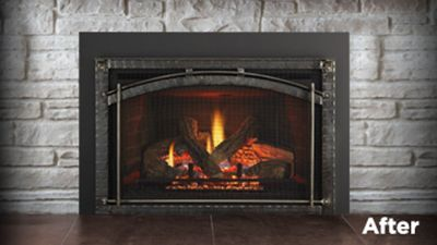 Fireplaces Wood Gas Fireplaces Inserts Heat Glo Gas