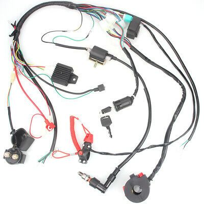 Ebay Advertisement Complete Wiring Harness Loom Solenoid Coil Rectifier Cdi 50 110cc Atv Dirt Bike Electronic Products
