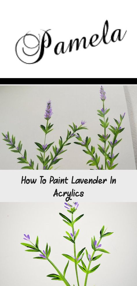 How to paint Lavender one stroke at a time in acrylics, easy and fun. #painting #acrylics #art #crafts #easypaintingBlackAndWhite #easypaintingStepByStep #easypaintingOnPaper #Prettyeasypainting #easypaintingForBoys