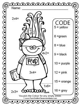 Color By Numbers Trolls Multiplication And Division Color By Numbers Coding Coding For Kids