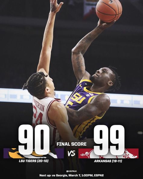 Lsu Talk On Instagram Lsu S Second Half Comeback Isn T Enough For The Win As The Tigers Lose 99 90 Mvp Skylar Mays 28 Pts In 2020 Lsu Lsu Tigers Comebacks